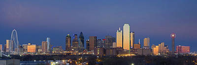 Dallas Skyline Photograph - Dallas Skyline Panorama From East Of Downtown by Rob Greebon