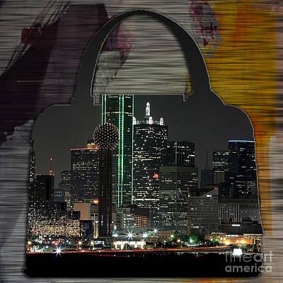 Dallas Texas Skyline In A Purse Print by Marvin Blaine