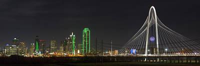 Dallas Skyline Photograph - Dallas Texas Skyline On A December Night 2 by Rob Greebon
