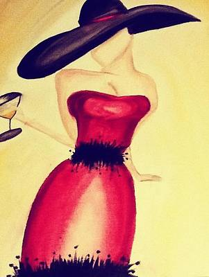 Cocktail Dress Painting - Dalliance by Alexi Milano