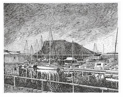 Dam Site Marina Elephant Butte Print by Jack Pumphrey