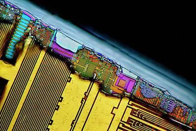 Hardware Photograph - Damaged Computer Ram Module by Antonio Romero
