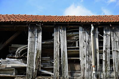 Photograph - Damaged Old Wooden Building by Sami Sarkis