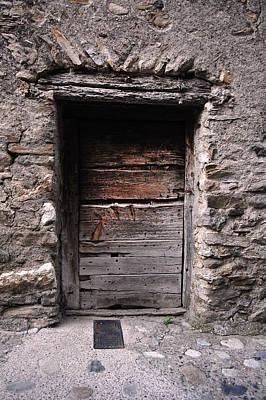 Old Door Photograph - Damaged Wood Door by Gina Dsgn
