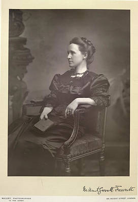 Of Woman Photograph - Dame Millicent Fawcett by British Library