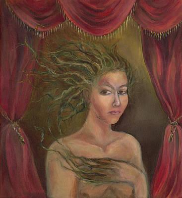 Freak Show Drawing - Dame Nature by Pierina Nunez