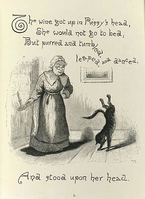 Of Cats Photograph - Dame Trot's Cat by British Library
