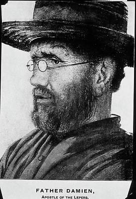 Damien De Veuster Print by National Library Of Medicine