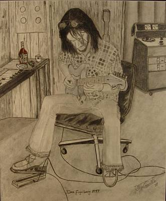Nederland Drawing - Dan Fogelberg In The Caribou Ranch Studio by J Carsello