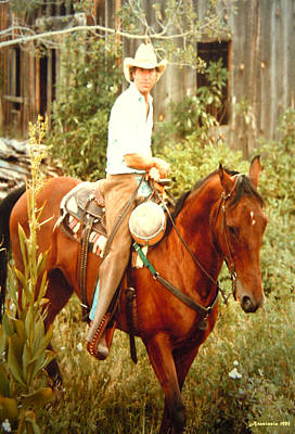 Dan Fogelberg Riding By The Old Schoolhouse Print by Anastasia Savage Ealy
