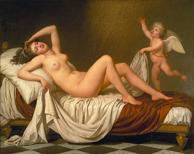 Adolf Painting - Danae And The Shower Of Gold by Adolf Ulrik Wertmueller