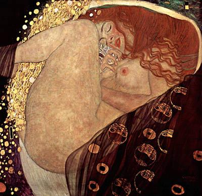 Danae Print by Gustive Klimt