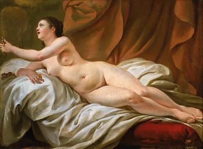 Danae Painting - Danae by Jean-Baptiste Marie Pierre