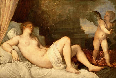 Valentines Day Painting - Danae by Titian