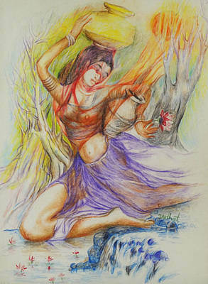 Germany Painting - Dance-15 by Bhanu Dudhat