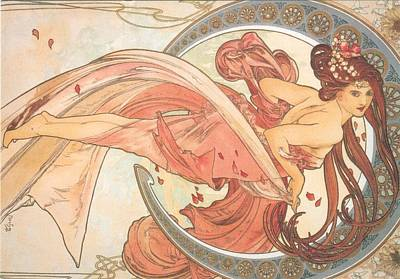 Mucha Painting - Dance by Philip Ralley