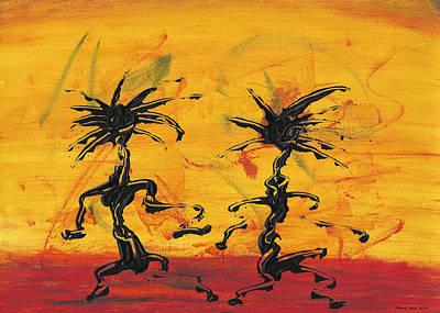 Mixed Media - Dance Art Dancing Couple X by Manuel Sueess