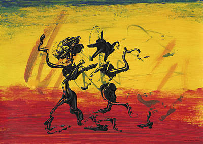 Dancing Painting - Dance Art Dancing Couple Xii by Manuel Sueess