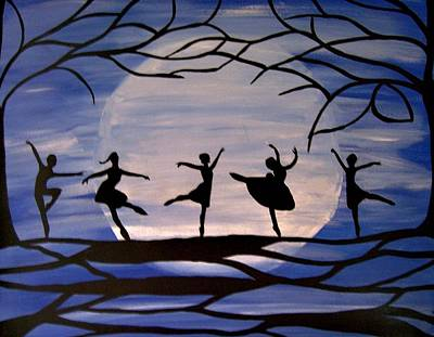 Dance By The Light Of The Moon Print by Rachel Olynuk