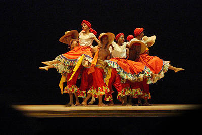 Dance Group On Stage Print by Linda Phelps