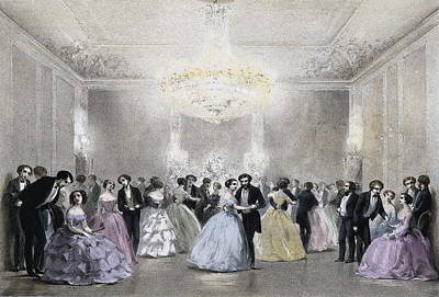 Dance Hall Of Mr. Laborde. Litography Print by Everett