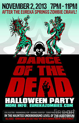 Eureka Springs Digital Art - Dance Of The Dead Poster 2013 by Jeff Danos and Kiko Garcia