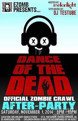 Eureka Springs Digital Art - Dance Of The Dead Poster 2014 by Jeff Danos