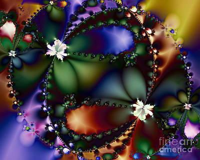 Algorithmic Digital Art - Dance Of The Gypsy Moths On A Moon Lit Night 20130510 by Wingsdomain Art and Photography