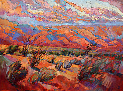 Sagebrush Painting - Dance Of The Sagebrush by Erin Hanson