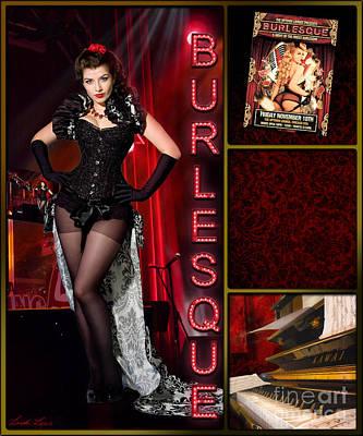 Dance Series - Burlesque Print by Linda Lees