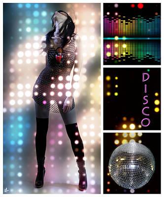 Dance Series - Disco Print by Linda Lees