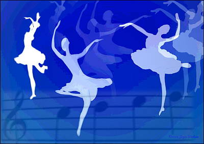 Dance The Blues Away Print by Joyce Dickens