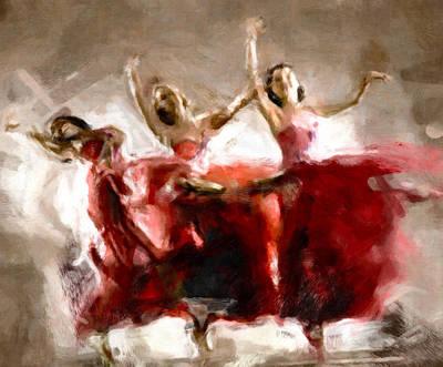 Dance The Hours Away Print by Georgiana Romanovna