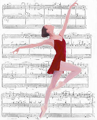Dance To The Music Print by Steve K