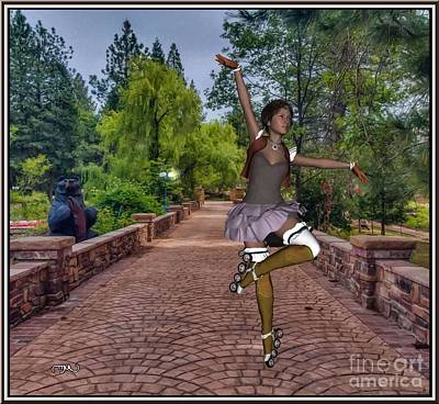 Statue Portrait Painting - Dance With Skates Dws001 by Pemaro