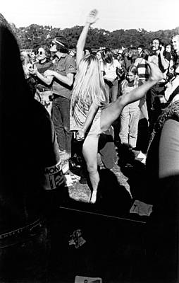 Golden Gate Park Photograph - Dancer At Vietnam War Protest by Underwood Archives Adler