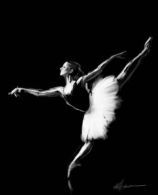 Ballet Digital Art - Dancer by H James Hoff