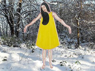 Dancer In The Snow Print by Patrick J Murphy