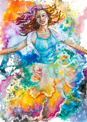Ballet Painting - Dancer by Patricia Allingham Carlson