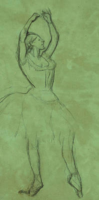 Dancer With Raised Arms Print by Edgar Degas