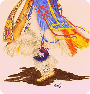 Indian Dance Drawing - Dancer's Feet 2a by Lew Davis