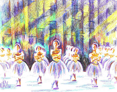 Dancers In The Forest Print by Kip DeVore