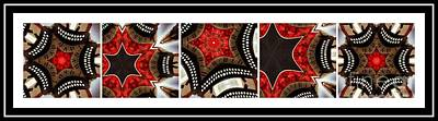 Pentaptych Photograph - Dancing A Jig - Accordion - Pentaptych by Barbara Griffin