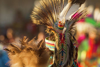 Pow Wow Regalia Photograph - Dancing And Grand March At The North by Chuck Haney