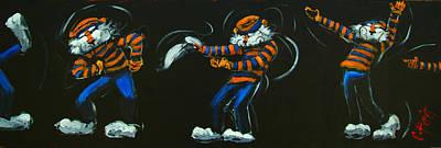 Dancing Aubie Print by Carole Foret