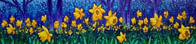 Meadow Painting - Dancing Daffodils  by John  Nolan