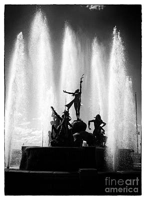 Dancing Fountain Print by John Rizzuto