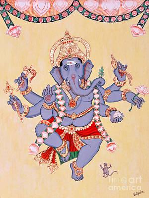 Vinayaka Painting - Dancing Ganapati by Pratyasha Nithin