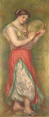 Pierre-auguste Renoir Painting - Dancing Girl With Tambourine by Pierre-Auguste Renoir