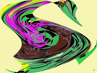 Vivacious Digital Art - Dancing Goose 2 by Will Borden